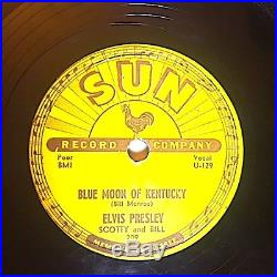 Elvis Presley That's All Right-Blue Moon Of Kentucky Sun Records