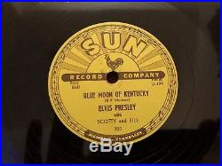 Elvis Presley That's All Right Blue Moon of Kentucky Sun 78 1954 Alan Freed RARE