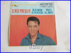 Elvis Presley That's All Right /Blue moon. COVER ONLY/Picture sleeve only