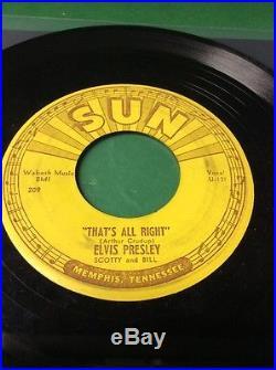 Elvis Presley That's All Right ORIGINAL SUN 45 SUN 209 Push Marks VG