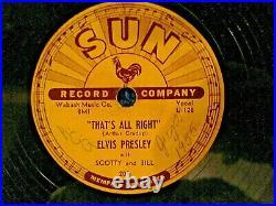 Elvis Presley That's All Right Original 1954 Sun Records 209 Vg+ Condition