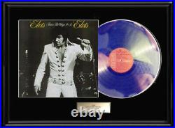 Elvis Presley That's The Way It Is White Gold Silver Platinum Tone Record Frame