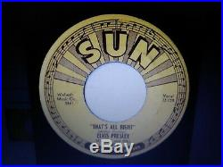Elvis Presley Thats All Right/blue Moon Of Kentucky 1954 Sun 45 Orig&pushmarks A
