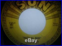 Elvis Presley Thats All Right/blue Moon Of Kentucky 1954 Sun 45 Original Ex