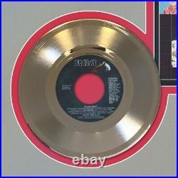 Elvis Presley The Elvis Medley Framed Picture Sleeve Gold 45 Record Display