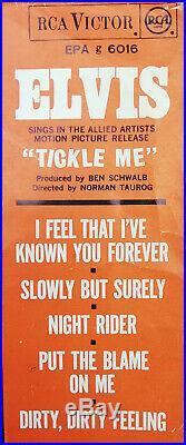 Elvis Presley Tickle Me Rare 7 Unique Only Greek Single Ep 1965 Ost 5 Tracks