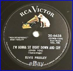 Elvis Presley US 78 RPM Schellack RCA Black Label Record 20-6638 TOP
