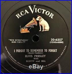 Elvis Presley US Six 78 RPM Schellack RCA Black Label Record Collection Box TOP