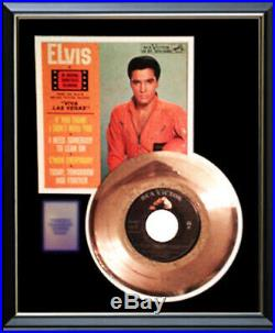 Elvis Presley Viva Las Vegas 45 RPM Ep Gold Metalized Record Rare Non Riaa