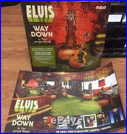 Elvis Presley Way Down In The Jungle Room SEALED 2xLP & RARE LITHOGRAPH PRINT