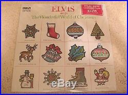 Elvis Presley Wonderful World Of Xmas 1971 Rca Lsp-4579 Still Sealed Promo