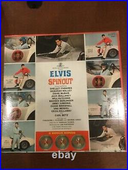 Elvis Presley album spinout streo sealed with hype sticker and photo