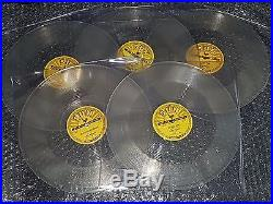 Elvis Presley complete set of 5 SUN repro 78 RPM records rare new set CLEAR