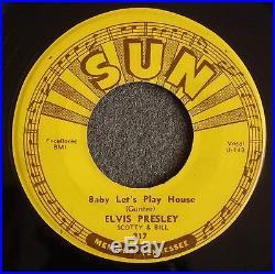 Elvis Presley complete set of ORIGINAL 1950's Sun 45's NEAR MINT