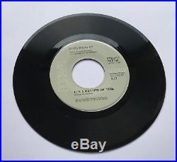Elvis Presley-mega Rare Burning Love Grey Label
