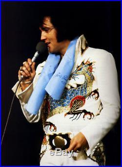 Elvis Presley original Konzert Schal 1974 Sammlung Ed Bonja