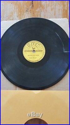 Elvis Presley original Sun record 78 rpm cracked 215 Milkcow blues boogie