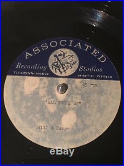 Elvis Presley rare 1957 10 45 rpm acetate All Shook Up rockabilly