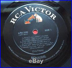 Elvis Presley-same Picture Back And Front For This Rare For Lp Fans Only