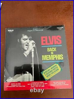 Elvis Presley sealed double album from Memphis to Vegas with hype sticker