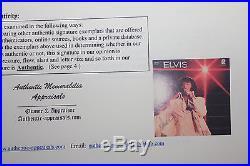 Elvis Presley signed LP Album Sleeve with COA