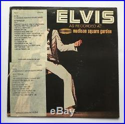 Elvis Presley-usa Promo/dj Copy For Madison Square Garden