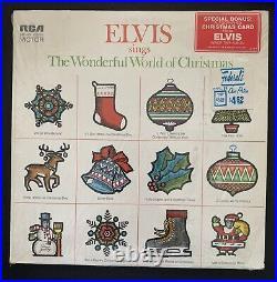 Elvis Wonderful World of Christmas Album W Bonus Photo & Hype Sticker / Memphis