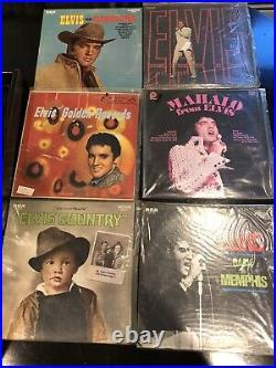 Elvis lot of 50 vinyl records