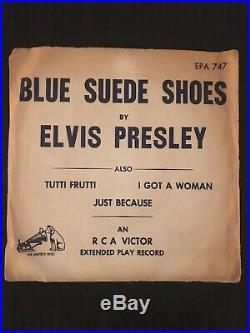 Elvis presley EP 747 Early Issue Sleeve 1956