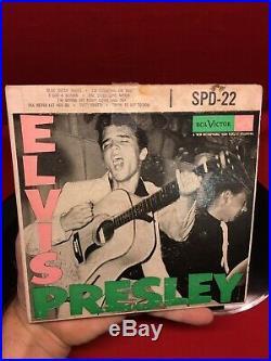 Exc Original 1956 Promo 45 Vinyl Elvis Presley Rca Victor Spd-22 Record Scarce