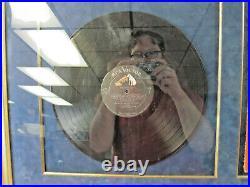 Framed Matted Elvis Presley Vinyl Record Album Autographed COA Sleeve Girls
