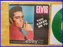 GEM MINT100% PERFECT MINT GREEN VINYL PROMO Elvis Presley LOVIN' ARMS JB-12205