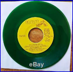 GREEN VINYL PROMO Elvis Presley LOVIN' ARMS/YOU ASKED ME TO JB-12205 $300 BV