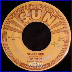 HEAR 45 ROCKABILLY ELVIS PRESLEY Mystery Train SUN 223 ORIGINAL