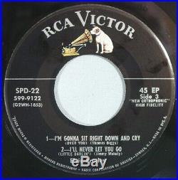 HEAR IT 50's 45 rpm EP 2 record set Elvis Presley SPD-22 both records, NO cover