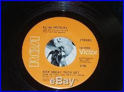 HOW GREAT THOU ART Elvis Presley 45 + PS VG+/NM Beautiful Example of this single