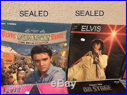 Huge Lot Of 42 Rare Elvis Presley Vinyl Albums Records 3 Are Sealed