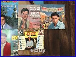 Huge Lot of 13 Vintage Elvis Presley Vinyl RARE RECORDS Collection
