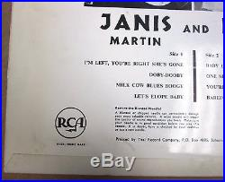 Janis Martin & Elvis Presley 1957 10 Cover Mega Rare South African Rca T31,077