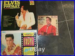 Joblot Bundle 16 Elvis Presley Records Inc 15 Lps And 1 X 7 Inc Rare Yellow Lp
