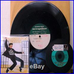 King ELVIS Presley JAILHOUSE ROCK 10 ACETATE 1957 CHRISTMAS PROMO SPOT RARE