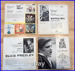 LARGE LOT OF (25) ELVIS PRESSLEY VINYL 45 RPMs and LPs GOOD CONDITION LOOK
