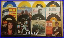 LOT (66) ELVIS PRESLEY 45's & PICTURE SLEEVES ORIGINALS & Rereleases