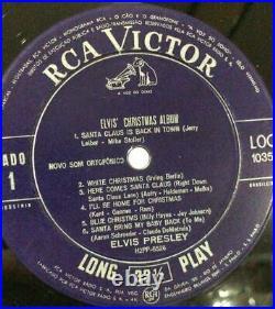 LP 1957 / 1960 Elvis Presley CHRISTMAS ALBUM RCA Victor LOC 1035 BRASILIEN EX