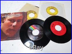 Large Lot of 45 RPM 7 Records in Collectors Case Beatles, Sun Elvis Presley++