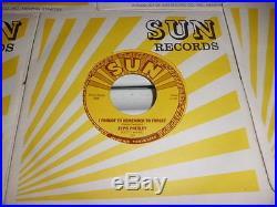 Lot Of 5 Elvis Presley Mint Unplayed Sun Label 45s