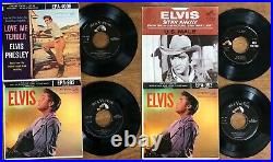 Lot of 11x ELVIS PRESLEY 45rpm EPs & Picture Sleeves with 45sPictured/GradedWOW