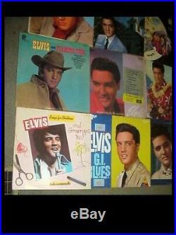 Lot of 25 Elvis Presley Rockabilly Vinyl 33 rpm record Albums