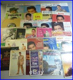 Lot of (26) Vinyl Elvis Presley-RCA Victor-45s and EPs