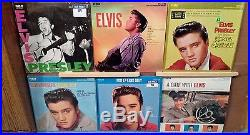 Lot of (50) Elvis Presley LP's listed & graded most M- and in shrink wrap